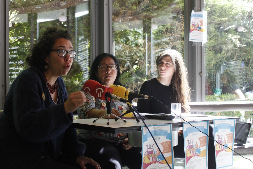 Tania Cañas, Tita Golíndez y Estibaliz Gómez de Segura Olalde (de izda a derecha).
